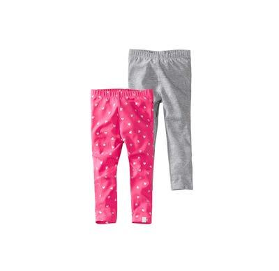 Baby-Mädchen-Leggings in süßem Design, 2er Pack