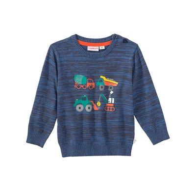 Baby-Jungen-Pullover mit Baustellen-Fahrzeugen