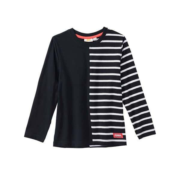 Jungen-Shirt mit Streifendesign