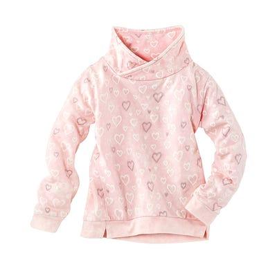 Kinder-Mädchen-Sweatshirt mit stylischem Schalkragen