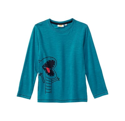 Jungen-Shirt mit Krokodil-Aufdruck