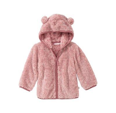 Baby-Mädchen-Plüschjacke mit Teddy-Öhrchen