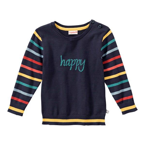 Baby-Jungen-Pullover mit gestreiften Ärmeln