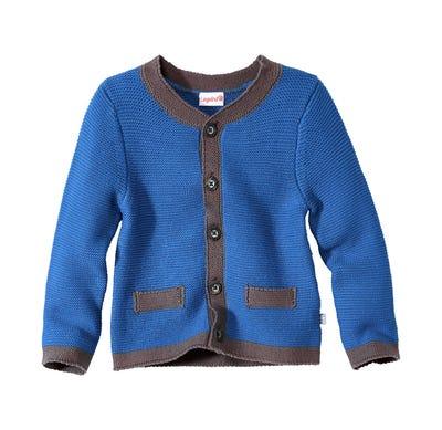 Baby-Jungen-Trachten-Strickjacke mit hübscher Knopfleiste