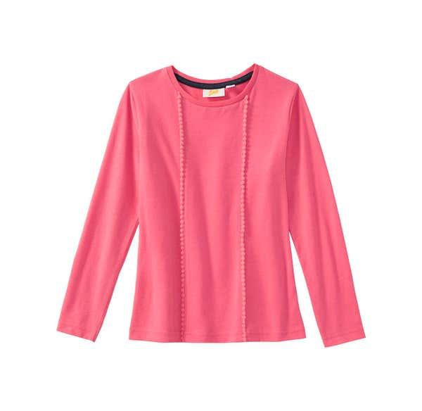 Mädchen-Shirt mit Zierbändern