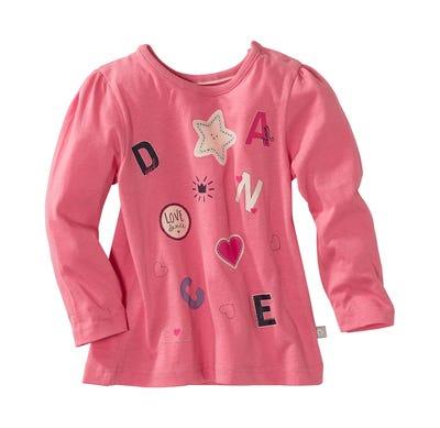 Baby-Mädchen-Shirt mit Puffärmeln