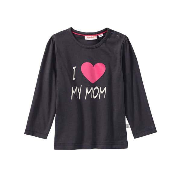 Baby-Mädchen-Shirt mit Herz-Frontaufdruck, 2er Pack