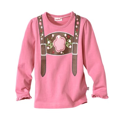 Baby-Mädchen-Trachten-Shirt in Pink