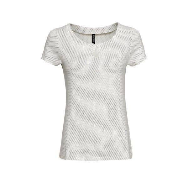 Damen-T-Shirt mit verziertem Ausschnitt