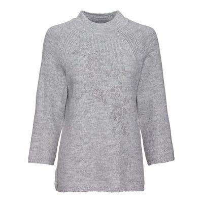Damen-Pullover mit edler Stickerei