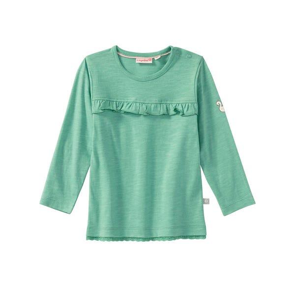 Baby-Mädchen-Shirt mit schicker Rüsche