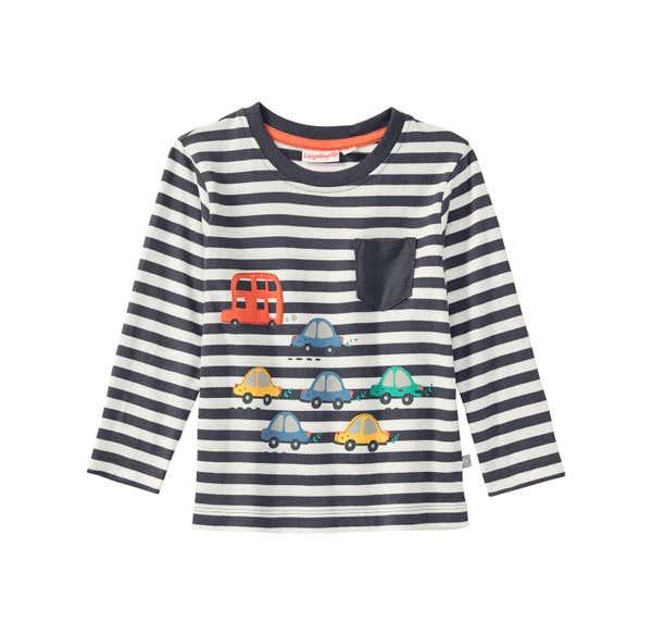 Baby-Jungen-Shirt mit Fahrzeug-Motiven