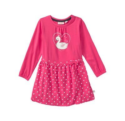 Baby-Mädchen-Kleid mit Schwanen-Aufdruck