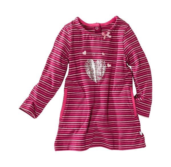 Baby-Mädchen-Kleid mit aufgesetzten Taschen