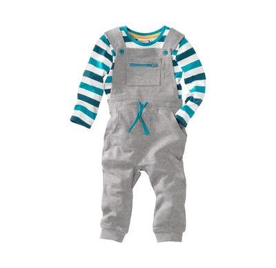 Baby-Jungen-Shirt und Latzhose, 2-teilig