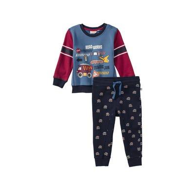 Baby-Jungen-Set mit Auto-Muster, 2-teilig