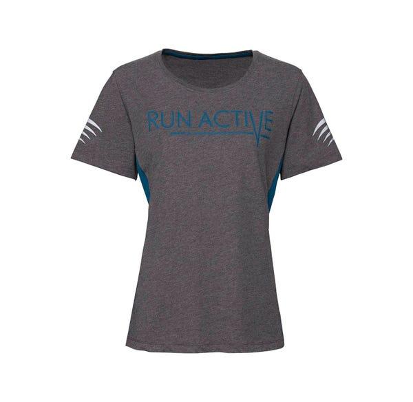 Damen-Fitness-T-Shirt mit reflektierendem Aufdruck