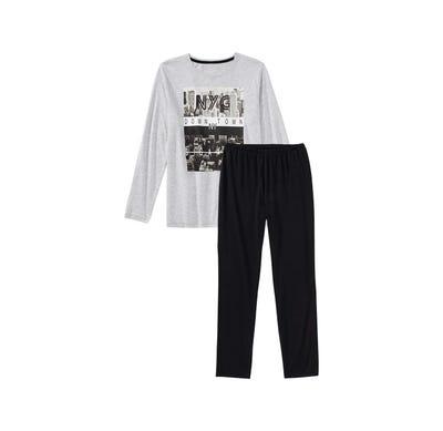 Jungen-Schlafanzug mit New-York-Frontaufdruck, 2-teilig
