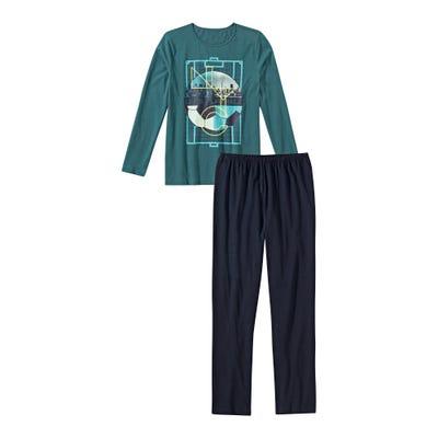 Jungen-Schlafanzug mit Fußball-Motiv, 2-teilig
