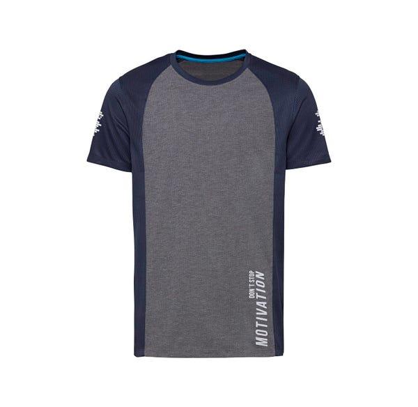 Herren-Fitness-T-Shirt mit Kontrast-Ärmeln