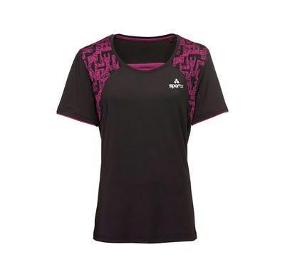 Damen-Fitness-T-Shirt mit trendigen Einsätzen