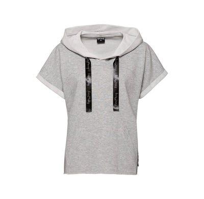 Damen-Fitness-T-Shirt mit Kapuze