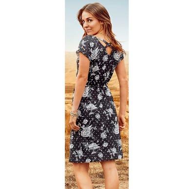 Damen-Kleid mit gekreuztem Rückenausschnitt