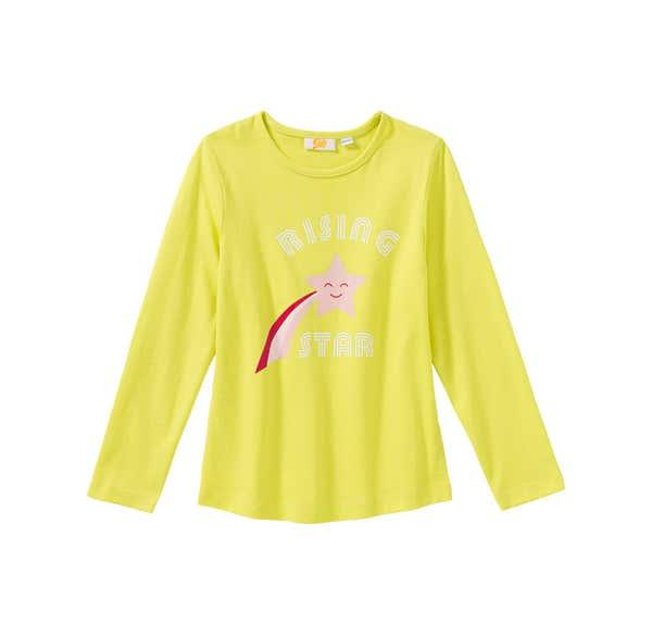 Mädchen-Shirt mit Sternschnuppen-Frontaufdruck