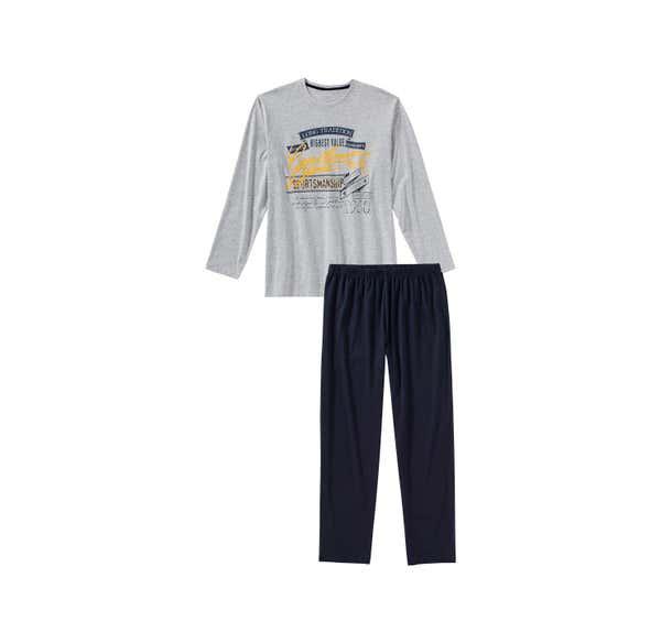 Herren-Schlafanzug mit schickem Frontaufdruck, 2-teilig