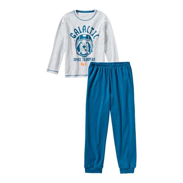 Jungen-Schlafanzug mit Hunde-Frontaufdruck, 2-teilig