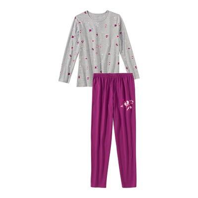 Mädchen-Schlafanzug mit schickem Muster, 2-teilig