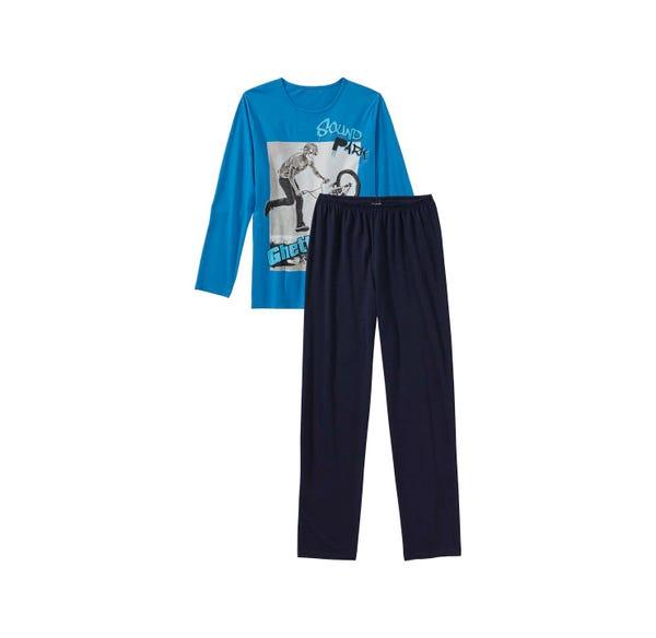 Jungen-Schlafanzug mit BMX-Frontaufdruck, 2-teilig