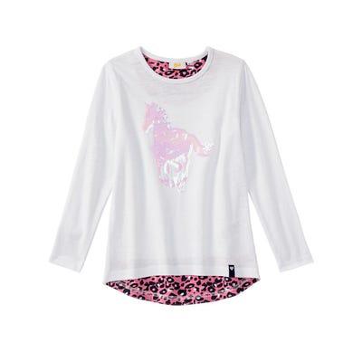 Mädchen-Shirt mit Pailletten-Applikation