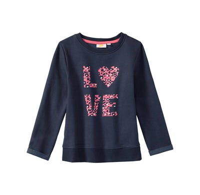 Mädchen-Sweatshirt mit Love-Aufdruck