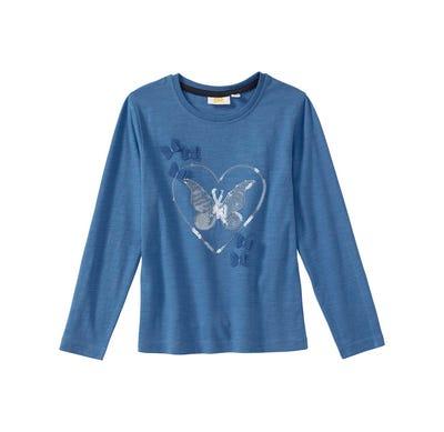 Mädchen-Shirt mit Pailletten-Herz