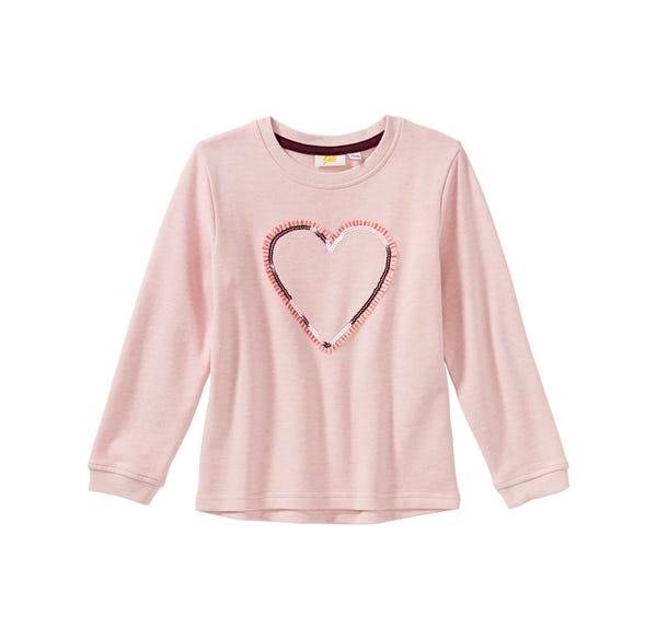 Mädchen-Sweatshirt mit Herz-Applikation