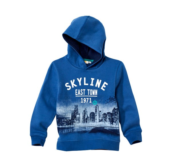 Jungen-Kapuzen-Sweatshirt mit tollem Skyline-Motiv