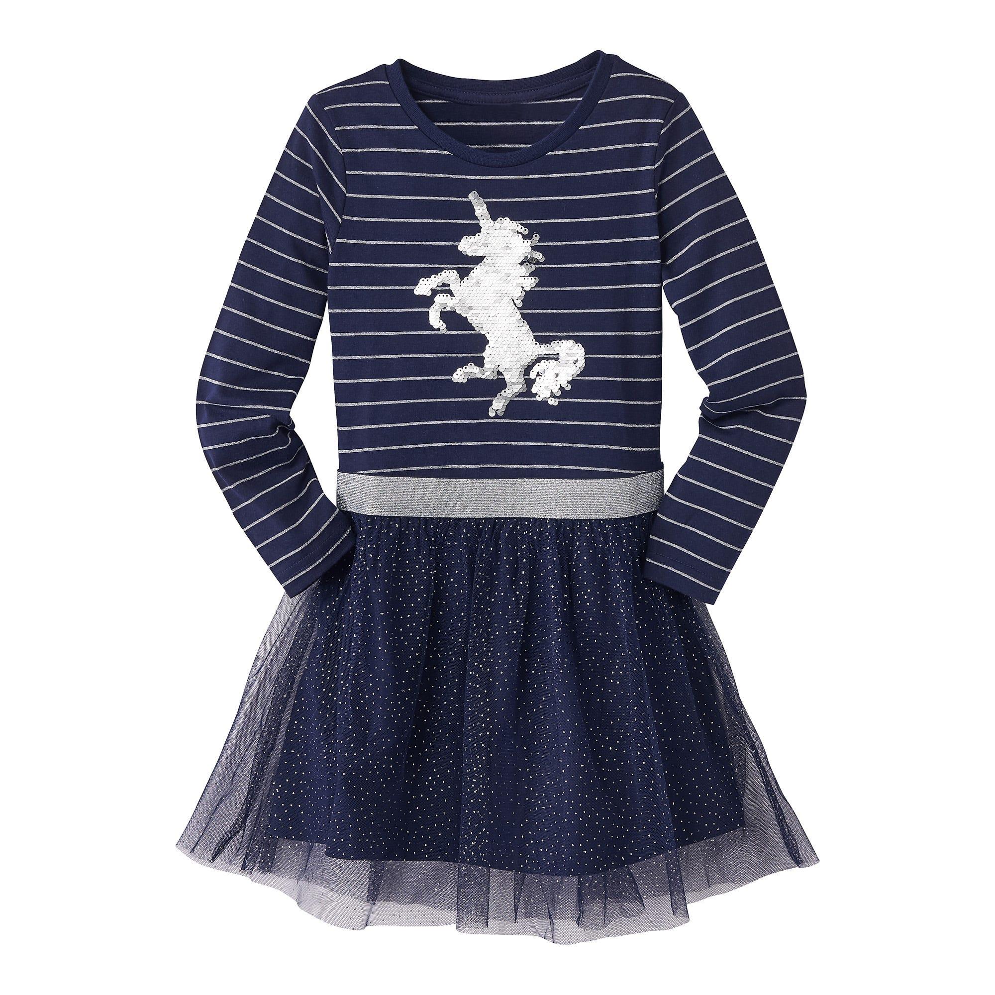 Mädchen Kleid mit angesagten Wendepailletten   NKD