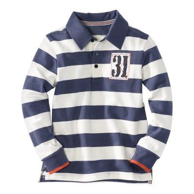 Jungen-Polosweatshirt mit modischen Streifen