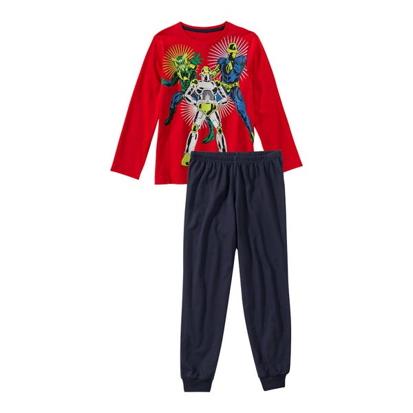 Jungen-Schlafanzug mit Superhelden-Frontaufdruck, 2-teilig