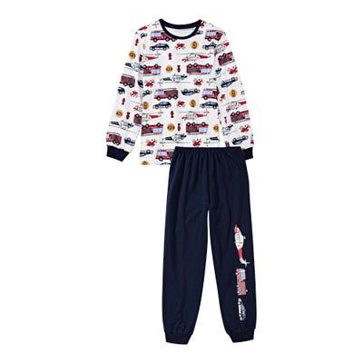 Jungen-Schlafanzug mit Rettungsfahrzeugen, 2-teilig