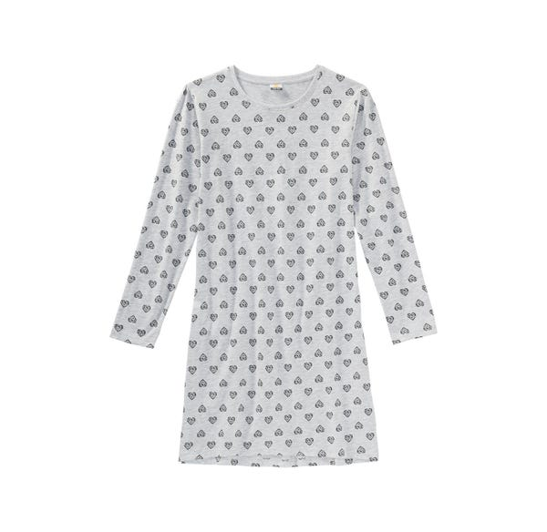 Mädchen-Nachthemd mit Herzmuster