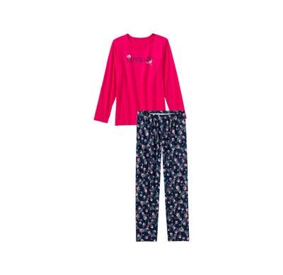 Mädchen-Schlafanzug mit Blümchen-Muster, 2-teilig