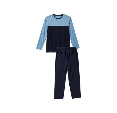 Herren-Schlafanzug mit trendigem Farbdesign, 2-teilig