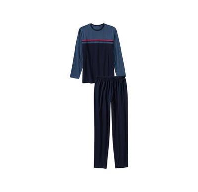 Herren-Schlafanzug mit Zierstreifen, 2-teilig
