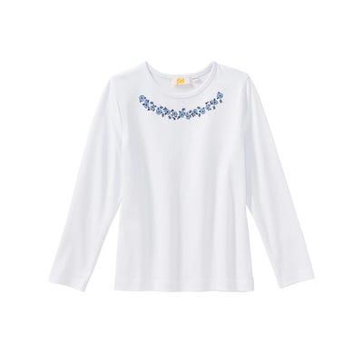 Mädchen-Shirt mit Blumen-Aufdruck