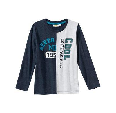 Jungen-Shirt mit zweifarbigem Design