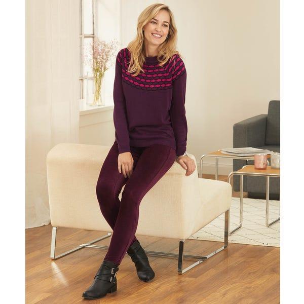 Damen-Velvethose mit elastischem Bund