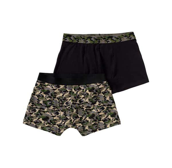 Herren-Retroshorts mit Camouflage-Muster, 2er Pack