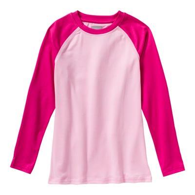 Mädchen-Thermo-Shirt mit Kontrast-Ärmeln